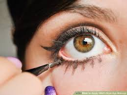 image led apply 1960 s style eye makeup step 13