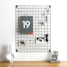 Modern Memo Board Block Wire Mesh Memo Board Grey Red Candy 3