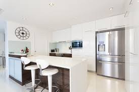 white modern kitchen. Small White Modern Kitchen With Island For Dining B
