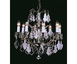 louvre eight light crystal antique brass chandelier impex cp06003 08 ab