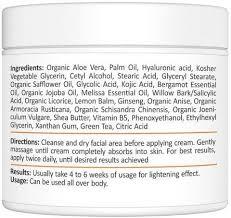 skin whitening cream reviews
