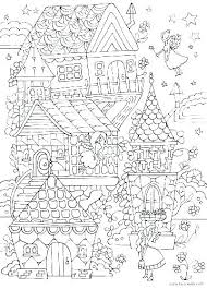 Tree House Coloring Pages Printable Houses Fairy Jimhannontan Info