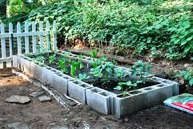 Concrete Block Planters Cinder Block Garden Small Space Architectures Concrete  Block Garden Plans