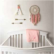 Dream Catcher For Baby Room Coral Gold Dream Catcher Arrows for Baby Girl Nursery 1