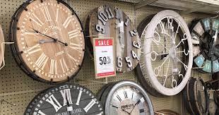 50 off wall clocks at hobby lobby