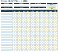 Monthly Tracking Chart Free Attendance Spreadsheets And Templates Smartsheet