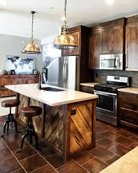 rustic contemporary furniture. View In Gallery Wood-clad Kitchen With Modern And Industrial Chic Accents Rustic Contemporary Furniture O