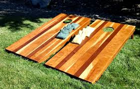 Wooden Corn Hole Game Corn Hole Set Cherry Mahogany Hardenbrook Hardwoods 66