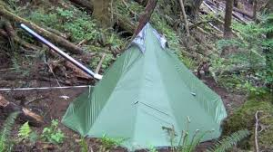 another ultralight backng hot tent and titanium wood stove you