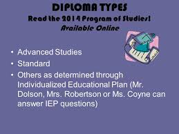 potomac falls high school presents welcome class of ppt  10 diploma types the 2014