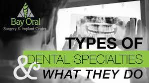 diffe types of dental specialties