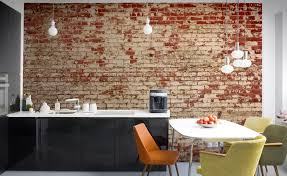 Cool office wallpaper Reception Area Muralsbrickeffectwallpaper980x600 Apparatus Cool Finds Murals Brick Effect Wallpaper Apparatus