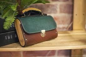 коричневая сумка из кожи и дерева <b>рюкзак</b> деревянный кожаный ...
