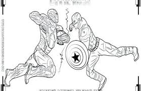 Captain America Civil War Coloring Pages Captain Coloring Pages