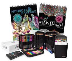coloring sets. Brilliant Sets ColorIt Essentials Bundle  2 Coloring Books 48 Gel Pen Set Colored  Pencil In Sets H