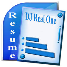resume dj real one dj real one resume