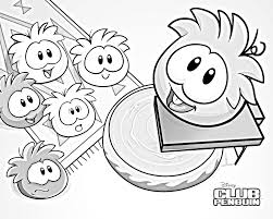 Club Penguin Coloring Pages Of Puffles