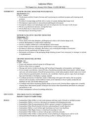 Graphic Designer Senior Designer Resume Samples Velvet Jobs