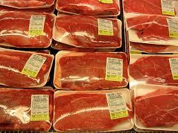 supermarket meat case