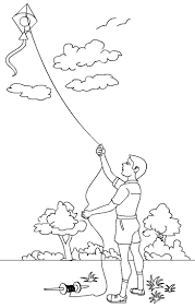 Small Picture Kite Flying Drawing Images Image Gallery HCPR