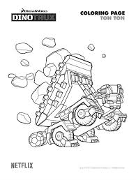 Free Printable Dinotrux Ton Ton Coloring Page Printables In 2019