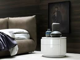 round bedside table with drawers yndro bedside table by silenia