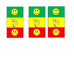 Mini Green Yellow Red Portable Behavior Chart