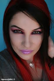 an edgy rock colorful hot pink look free tutorial with pictures on how