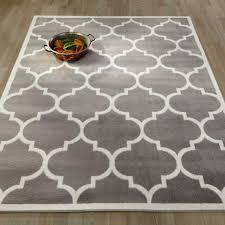area rug 8x10 grey moroccan trellis low pile