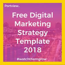 Digital Marketing Strategy Template Business Template