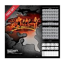 insanity wall calendar templates insanity calendar excel 650x539 workout