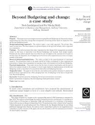 pdf beyond budgeting and change a case study
