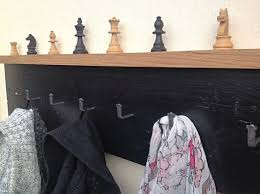 Strong Coat Rack Chess Lovers Coat Rack Reclaimed Hardwood With Vintage Chess Set 92