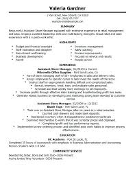 Store Manager Resume Examples Sample Or Grocery Store Manager Resume Fascinating Resume Sample For Store Manager