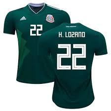 Green 22 white Adidas H - Home 2018 Jersey Lozano Mexico Soccerloco