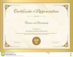 Free Appreciation Certificates Sample Certificate Of Appreciation Download Free Template