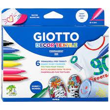 <b>Фломастеры</b> для декорирования по ткани <b>Giotto Decor Textile</b> 6 ...