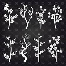 free chalkboard background white tree silhouette on chalkboard background royalty free vector
