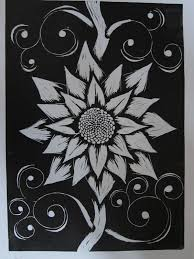 Easy Lino Print Designs Easy Linoleum Printing Google Search Flower Line