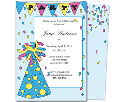 Party Hat Kids Birthday Party Invitation Template | Wisteria Press ... Kids Birthday Party Invitation Template. birthday029.partyhat.webfront