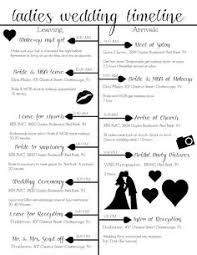 Wedding Schedule Wedding Day Timeline Template Wedding Day Timeline Wedding Black