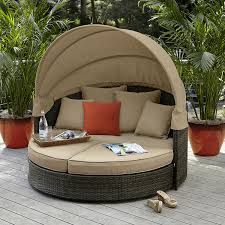 grand resort patio furniture best of grand resort monterey half moon lounger with canopy neutral