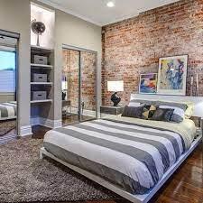 brick wallpaper bedroom brick effect