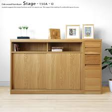 there are sliding doors cabinet unit furniture sideboard countertop kitchen shelf stage 150a o oak wood