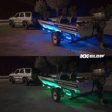 exterior led lighting car. boat trailer docking multi color led light kit with remote control, exterior led lighting car