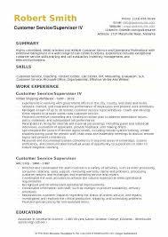 Call Center Supervisor Resume