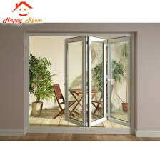 aluminum aluminium frameless glass door sliding folding door