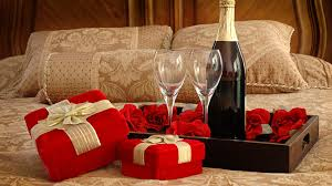 Image result for champagne in the bedroom