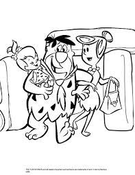 Kleurplaat Familie Flintstone