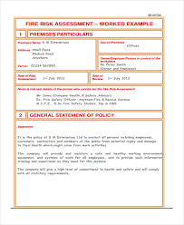 Risk Policy Template 31 Risk Assessment Templates In Pdf Free ...
